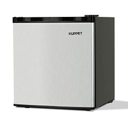 KUPPET Compact Upright Freezer, Single Door, Reversible Stainless Steel Door, Adjustable Removab ...