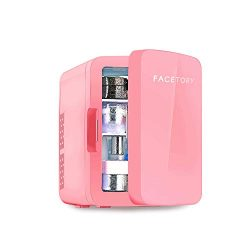 FaceTory Portable Beauty Fridge (10-L / 12 Can) with Heat and Cool Capacity