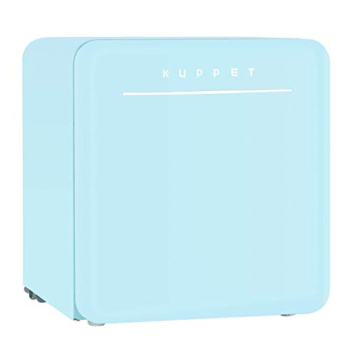 KUPPRT Classic Retro Compact Refrigerator Single Door, Mini Fridge with Freezer, Small Drink Chi ...