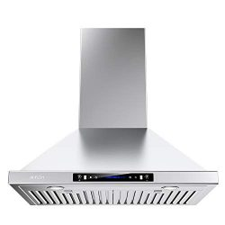 IKTCH Wall Mount Range Hood 30 inch Gesture Sensing & Touch Control Switch Panel Kitchen Ven ...