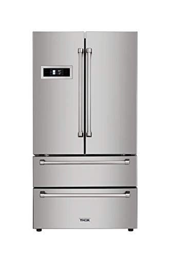 Thor Kitchen Automatic Ice-maker, 36inch Refrigerator with Counter Depth French Door