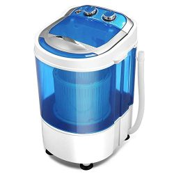 KUPPET Mini Portable Washing Machine for Compact Laundry, 7lbs Capacity, Small Semi-Automatic Co ...