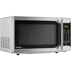Danby Designer 0.7 Cu. Ft. 700W Countertop Microwave Oven in Stainless Steel