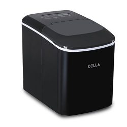 Della  Countertop Portable Ice Maker Ice Cube Ready in 7 Mins – 26lbs/24 hrs  Water Bottle ...