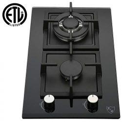 K&H 2 Burner 12″ LPG/Propane Gas Glass Cooktop 2-GCW-LPG