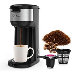 Dnsly Coffee Maker Single Serve – Portable Brewer for K-Cup Pod and Ground Coffee, Coffee  ...