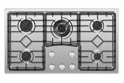 Empava EMPV-36GC5B9S 36″ Recessed Gas Stove Cooktop with 5 Italy SABAF Sealed Burners NG/L ...
