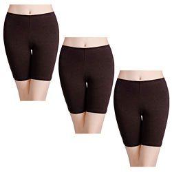 wirarpa Women's Cotton Underwear Boy Shorts Under Dresses Long Leg Panties Anti Chafe Bloo ...