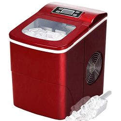 Tavata Portable Automatic Ice Maker Machine with Self-clean Function for Countertop, 9 Ice Cubes ...