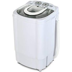 KUPPET Mini Portable Washing Machine for Compact Laundry, 11lbs Capacity, Small Compact Washer w ...