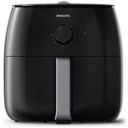Philips Twin TurboStar Technology XXL Airfryer with Fat Reducer, Analog Interface, 3lb/4qt, Blac ...