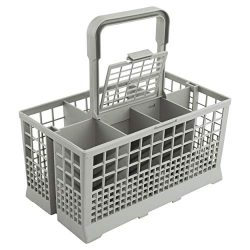 Universal Dishwasher Cutlery Basket (9.5 x 5.4 x 4.8 inches) fits Kenmore, Whirlpool, Bosch, May ...