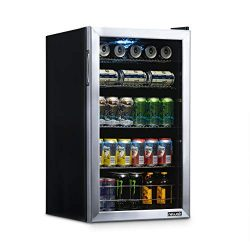 NewAir NBC126SS02 Beverage Refrigerator and Cooler, Holds up to 120 Cans, Perfect for Beer Wine  ...