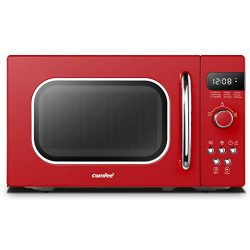 Comfee AM720C2RA-R Retro Style Countertop Microwave Oven with 9 Auto Menus Position-Memory Turnt ...
