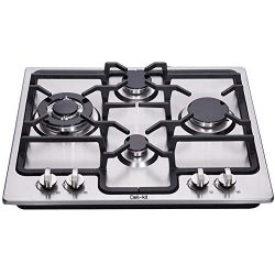 Deli-kit DK245-A04 24 inch gas cooktop gas hob stovetop 4 burners LPG/NG Dual Fuel 4 Sealed Burn ...