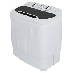 ZENSTYLE Portable Mini Twin Tub Washing machine w/Spin Cycle Dryer Compact Built-in Gravity Drai ...