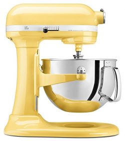 KitchenAid KP26M1XMY 6 Qt. Professional 600 Series Bowl-Lift Stand Mixer – Majestic Yellow ...