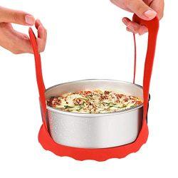 Silicone Roasting Rack,Bakeware Pressure Cooker Sling Trivet with Handles Oven Baking Rack ̵ ...