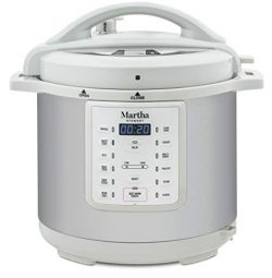 Martha Stewart 8 Qt 7-in-1 Everything Pressure Cooker, Programmable Slow Cooker, Rice Cooker, St ...