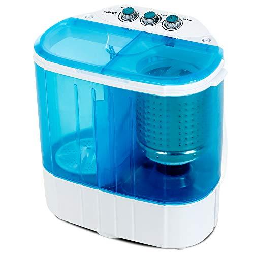 Portable Washing Machine, Kuppet 10lbs Compact Mini Washer, Wash&Spin Twin Tub Durable Desig ...