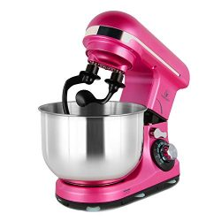 Stand Mixer Double Shaft, MURENKING 4-Qt 300W Tilt-Head 6 Speed Electric Food Mixer Kitchen MK18 ...