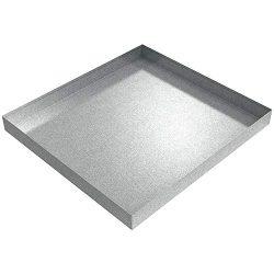 27″ x 25″ x 2.5″ Compact Washing Machine Drip Pan (Galvanized Steel)