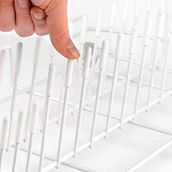 200 Pieces Universal Dishwasher Prong Rack Tip Tine Cover Caps, Flexible Round End Caps Shelf Or ...