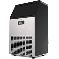 hOmeLabs Freestanding Commercial Ice Maker Machine – 99 lbs Ice in 24 hrs with 29 lb Stora ...
