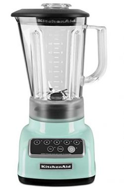 KitchenAid 5-Speed Blender RKSB1570IC, 56-Ounce, Ice Light Blue Color (Renewed)