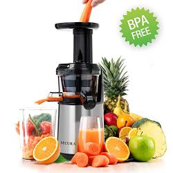 Secura Slow Juicer Masticating Juicer Big Mouth' Cold Press Juicer, Low Speed Juicer for H ...