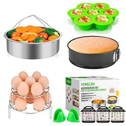 Cooking Accessories Compatible with Instant Pot 6,8 Qt, 10-Piece Steamer Basket, Egg Bites Mold, ...