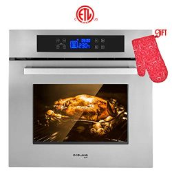Wall Oven, Gasland chef ES611TS 24″ Built-in Single Wall Oven, 11 Cooking Function, Stainl ...