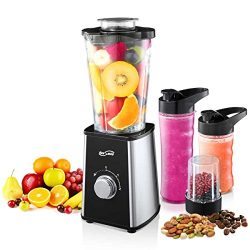 Housmile Smoothie Blender, 7-Piece Countertop with 300 Watt Base, High-Speed for Shakes and Smoo ...