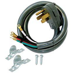 Eastman 61248 4-Prong Electric Range Cord, 50 Amps, 10 Ft Length, Black