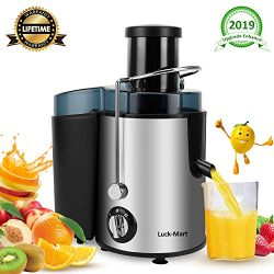 "Juicer, Juicer Machine Real 3"" Whole Fruit and Vegetable Feeder Chute Juice Extractor, Dua ..."