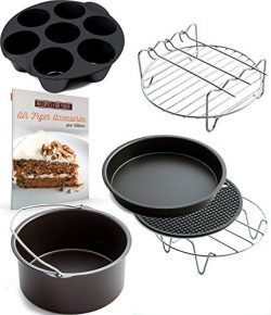 XL Air Fryer Accessories XL for Power Airfryer XL Gowise and Phillips, Deluxe Set of 6(+ recipe  ...