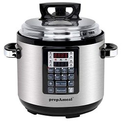 prepAmeal 6QT 11-IN-1 ( 3 Speeds Options ) Pressure Cooker Multi-Use Programmable Instant Cooker ...