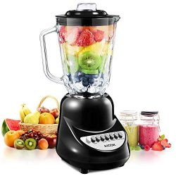 Blender, Aicok Smoothie Blender with 450 Watt Auto-IQ Base for Shakes and Smoothies, 10-Speed Se ...