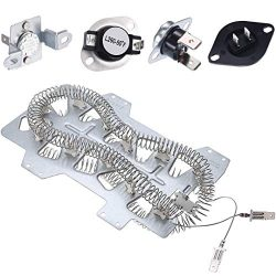 Samsung Dryer Heating Element DC47-00019A, Dryer Repair Kit with DC47-00018A Thermostat, DC47-00 ...