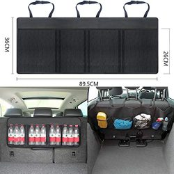Batteraw Car Boot Organiser Storage Tidy Hanging Back Seat Bag for Auto Car, Black
