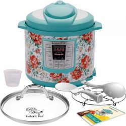Pioneer Woman Instant Pot 6qt 6 Quart Programmable Pressure Cooker Slow Electric Multi Use Rice  ...