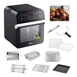 GoWISE USA GW44800-O Deluxe 12.7-Quarts 15-in-1 Electric Air Fryer Oven w/Rotisserie and Dehydra ...