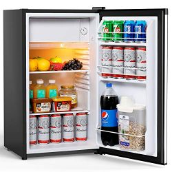 Colzer Compact Refrigerator, Mini Fridge with Freezer for Office, College Dorm Room & Apartm ...