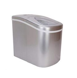 Prime Home Portable Ice Maker for Countertop – Makes Ice in 8 Minutes – Stainless Steel