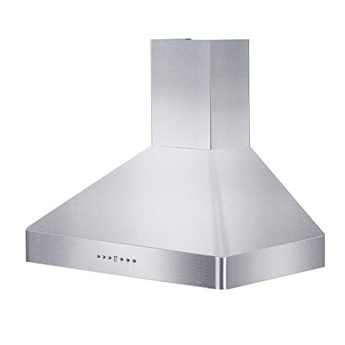 Z Line KF2-30 30″ 900 CFM Wall Mount Range Hood in Stainless Steel