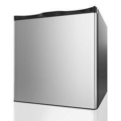 COSTWAY Compact Upright Freezer – 1.1 CU FT Capacity- Single Door Size with Reversible Sta ...