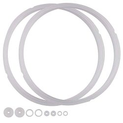 Power Pressure Cooker Sealing Ring Clear Color Multi-Cooker Rubber Gaskets for Many 5 Liter 6 Li ...