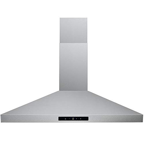 CAVALIERE SV168B2 30 inches Wall Mount Stainless Steel Range Hood 400 CFM Ducted Exhaust Vent, 3 ...