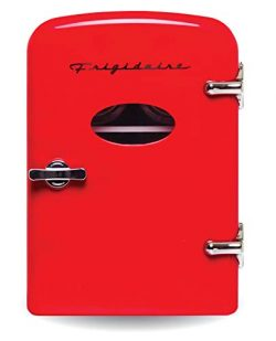 Frigidaire Retro Mini Compact Beverage Refrigerator, Great for keeping office lunch cool! (Red,  ...
