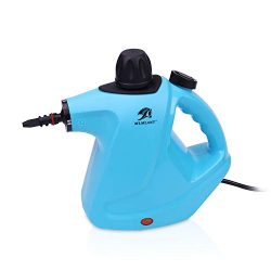 MLMLANT Handheld Pressurized Steam Cleaner 450Milliliter Water Tank Capacity 9 Pieces Accessory  ...